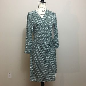 41 Hawthorn long sleeve wrap dress.